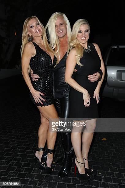 Daniel DiCriscio Amber Lynn and Suzie Malone are seen on January 21 2016 in Los Angeles