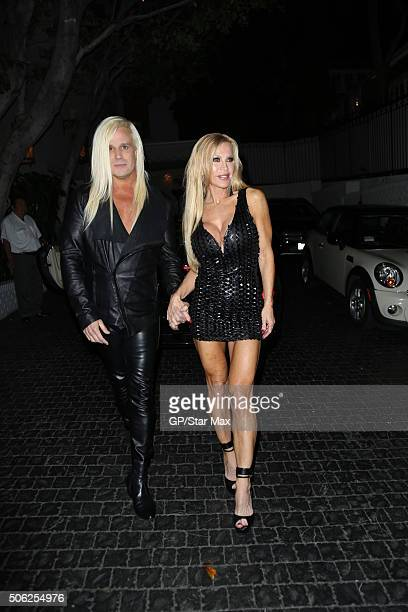 Daniel DiCriscio and Amber Lynn are seen on January 21 2016 in Los Angeles