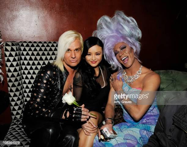 Daniel DiCriscio and Tila Tequila attend Daniel DiCriscio's Black N' Blonde Birthday Party at Bardot on January 25 2011 in Los Angeles California