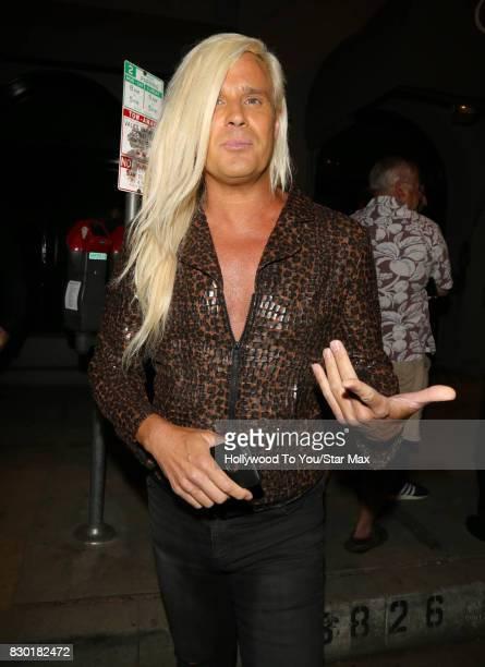 Daniel Dicriscio is seen on August 10 2017 in Los Angeles CA