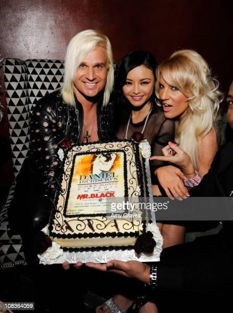 Daniel DiCriscio Tila Tequila and Iliana Fischer attend Daniel DiCriscio's Black N' Blonde Birthday Party at Bardot on January 25 2011 in Los Angeles...