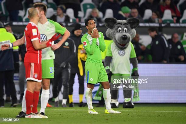 Daniel Didavi of Wolfsburg looks dejected after the Bundesliga match between VfL Wolfsburg and FC Bayern Muenchen at Volkswagen Arena on February 17...