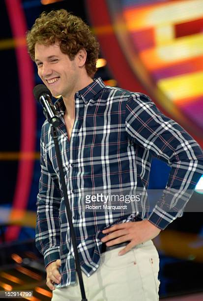 Daniel Diges attends a presentation of the 2nd season of 'Tu Cara Me Suena' at the Antenna 3 studios on September 25 2012 in Barcelona Spain