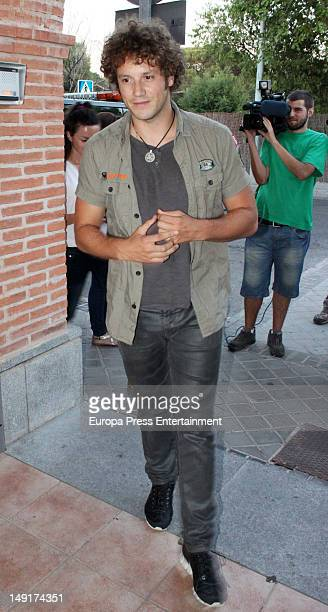 Daniel Diges attends the funeral chapel for tv presenter Jose Luis Uribarri on July 23 2012 in Pozuelo de Alarcon Spain