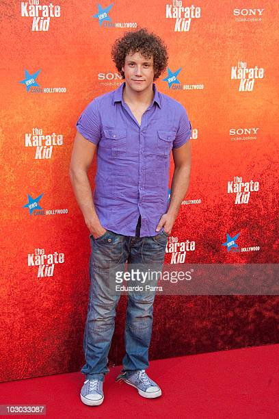 Daniel Diges attends 'The Karate Kid' premiere at Callao cinema on July 21 2010 in Madrid Spain on July 21 2010 in Madrid Spain