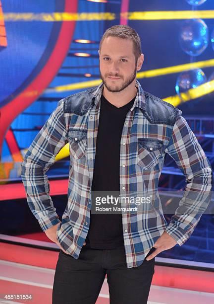 Daniel Diges poses during a press presentation for a new season of 'Tu Cara Me Suena Mini' at the MEDIAPARK studios on September 10 2014 in Barcelona...