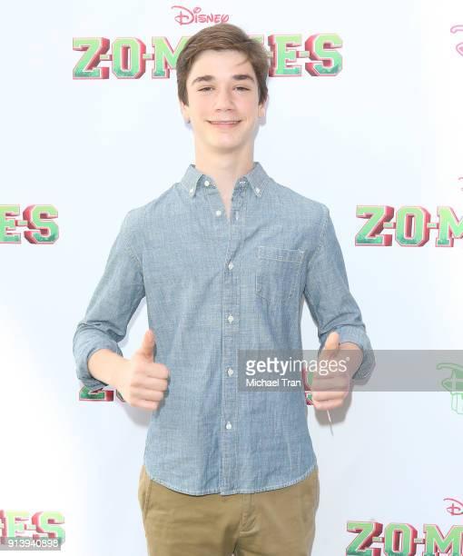 Daniel DiMaggio attends the Los Angeles premiere for Disney Channel's Zombies held at Walt Disney Studio Lot on February 3 2018 in Burbank California
