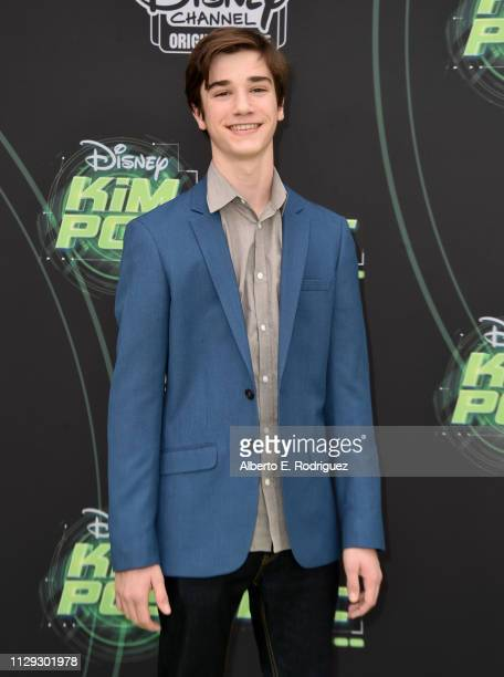 Daniel DiMaggio attends the premiere of Disney Channel's Kim Possible at The Television Academy on February 12 2019 in Los Angeles California