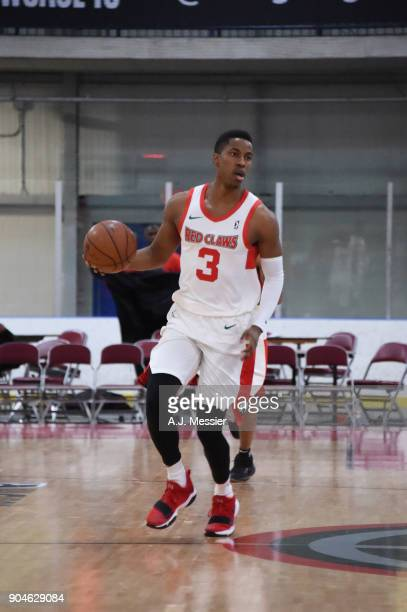 Daniel Dixon of the Maine Red Claws handles the ball during the NBA GLeague Showcase Game 25 between the Memphis Hustle and the Maine Red Claws on...
