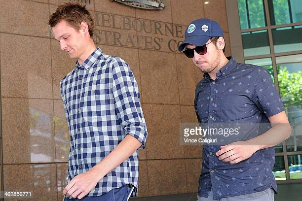 Daniel Dobson departs Melbourne Magistrates court on January 16 2014 in Melbourne Australia Dobson from the United Kingdom was charged with allegedly...