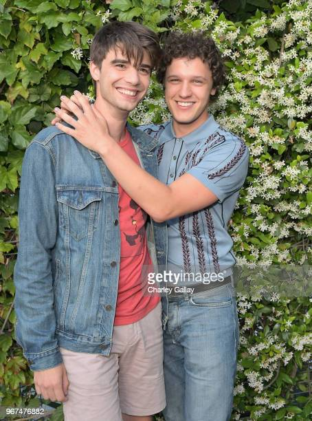 Daniel Doheny and Antonio Marziale attend a special screening of the Netflix film Alex Strangelove at the Los Angeles LBGT Center and The Renberg...