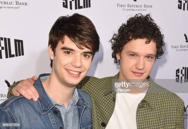 Daniel Doheny and Antonio Marziale attend the Alex Strangelove premiere during the 2018 San Francisco Film Festival at Victoria Theatre on April 14...