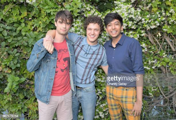 Daniel Doheny Antonio Marziale and Nik Dodani attend a special screening of the Netflix film 'Alex Strangelove' at the Los Angeles LBGT Center and...