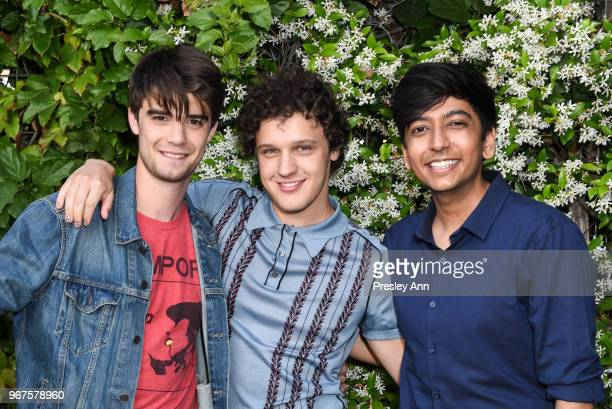 Daniel Doheny Antonio Marziale and Nik Dodani attend Special Screening And QA For Netflix's 'Alex Strangelove' at Los Angeles LGBT Center on June 4...