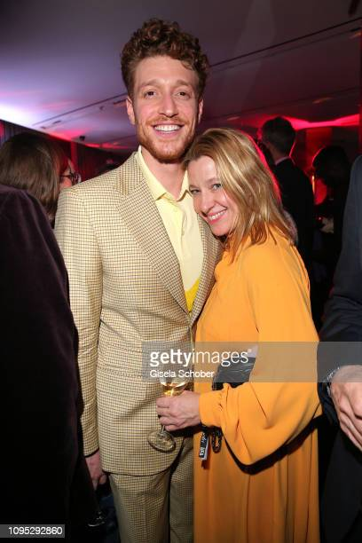 Daniel Donskoy and his manager Britta Dahlmann attend the Berlinale Opening Night by GALA UFA Fiction at Das Stue on February 07 2019 in Berlin...