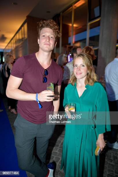 Daniel Donskoy and Paula Kalenberg attend the summer party 2018 of the German Producers Alliance on June 7 2018 in Berlin Germany