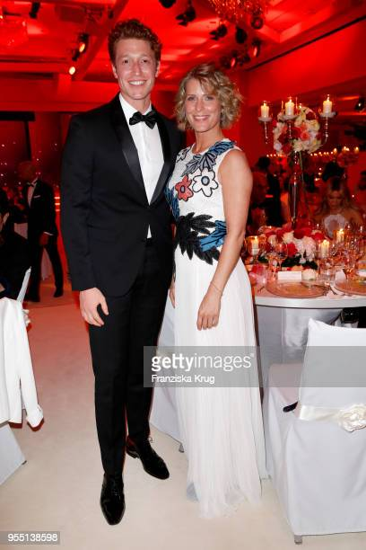 Daniel Donskoy and Valerie Niehaus during the Rosenball charity event at Hotel Intercontinental on May 5 2018 in Berlin Germany