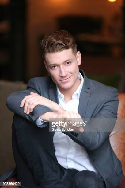 Daniel Donskoy currently to be seen as Maik in Sankt Maik for RTL poses during a photo session at Hotel Zoo on February 18 2018 in Berlin Germany