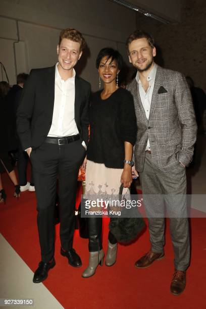 Daniel Donskoy Dennenesch Zoude and Steve Windolf during the Moet Academy Night on March 4 2018 in Berlin Germany