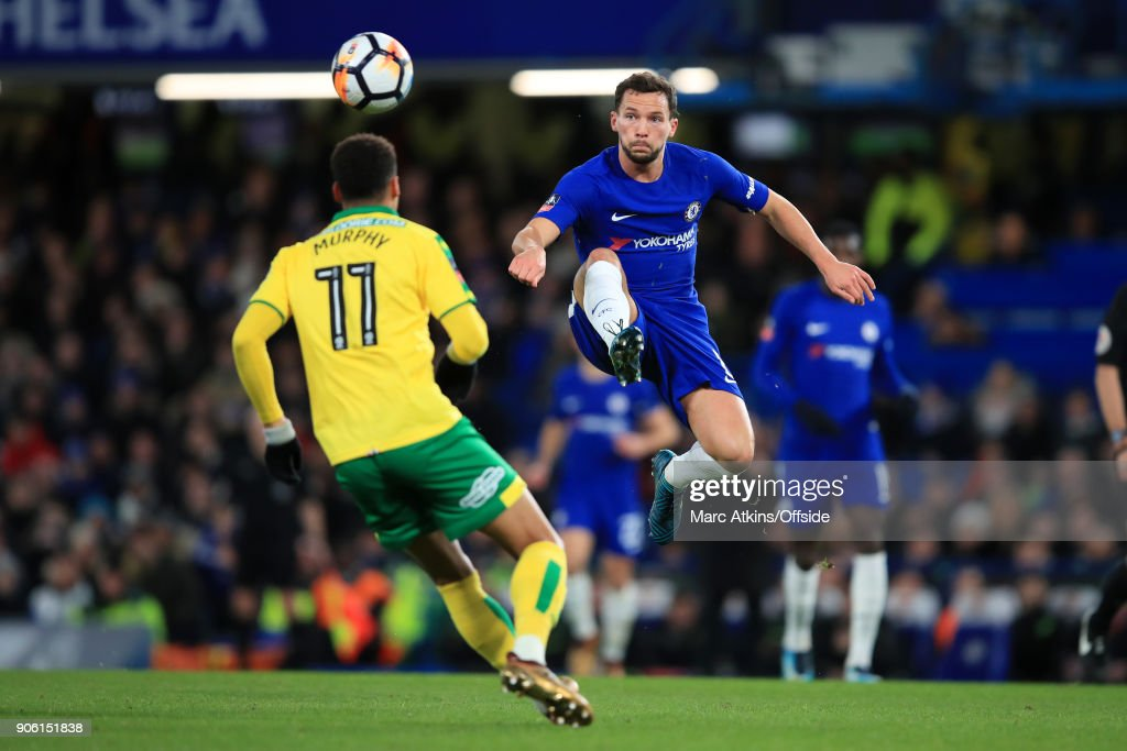 Daniel Drinkwater of Chelsea in action during The Emirates FA Cup Third Round Replay match between Chelsea and Norwich City at Stamford Bridge on January 17, 2018 in London, England.