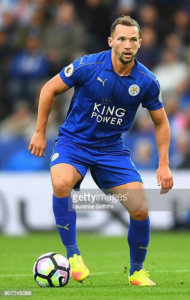 Daniel Drinkwater of Leicester City in action during the Premier League match between Leicester City and Burnley at The King Power Stadium on...