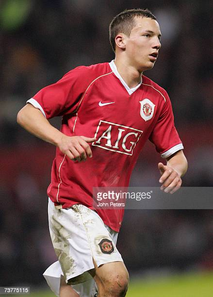 Daniel Drinkwater of Manchester United in action during the FA Youth Cup semifinal second leg match between Manchester United Under18s and Arsenal...
