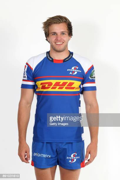 Daniel du Plessis poses during the Stormers 2018 Super Rugby headshots session on December 5 2017 in Cape Town South Africa