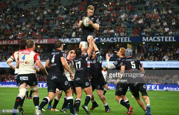 Daniel du Preez of the Cell C Sharks during the Super Rugby match between Cell C Sharks and Emirates Lions at Growthpoint Kings Park on July 15 2017...
