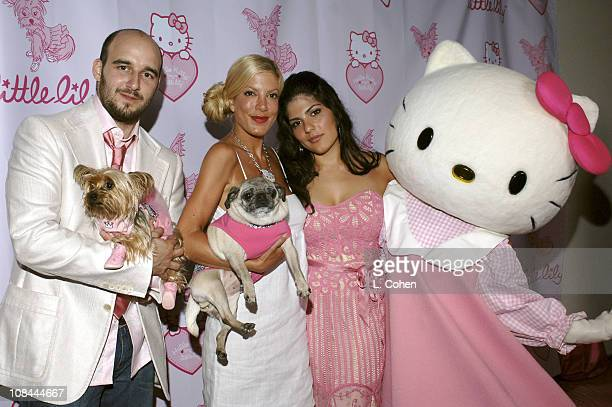 Daniel Dubiecki Tori Spelling with Mimi La Rue and Lara Alameddine of Little Lily