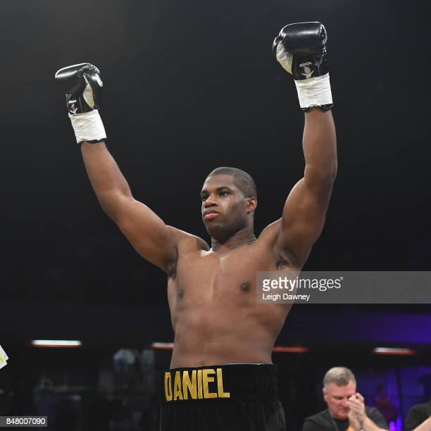 Daniel Dubois ahead of his fight with AJ Carter for the vacant BBBofC Southern Area Heavyweight Title fight at Copper Box Arena on September 16 2017...