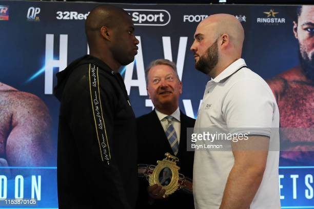 Daniel Dubois and Nathan Gorman go head to head at a press conference on June 05 2019 in London England