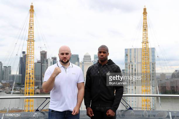 Daniel Dubois and Nathan Gorman go head to head on top of the O2 at a press conference on June 05 2019 in London England