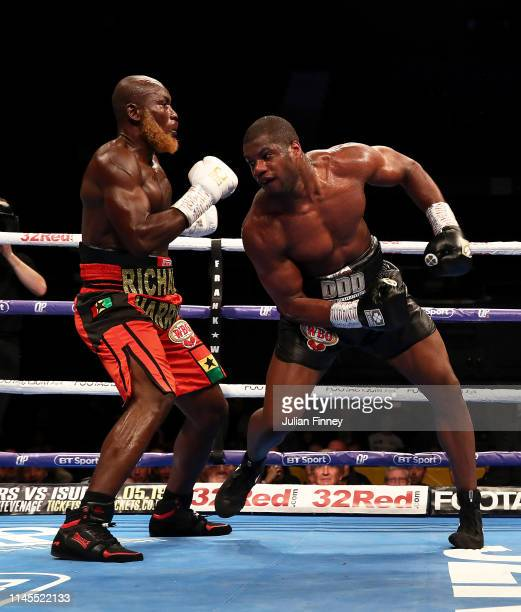 Daniel Dubois fights Richard Lartey in the vacant WBO Global Heavyweight Championship at SSE Arena Wembley on April 27 2019 in London England