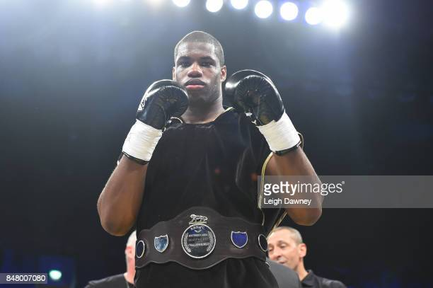 Daniel Dubois in defeats AJ Carter for the vacant BBBofC Southern Area Heavyweight Title fight at Copper Box Arena on September 16 2017 in London...