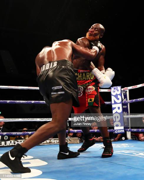 Daniel Dubois knocks out Richard Lartey in the vacant WBO Global Heavyweight Championship at SSE Arena Wembley on April 27 2019 in London England