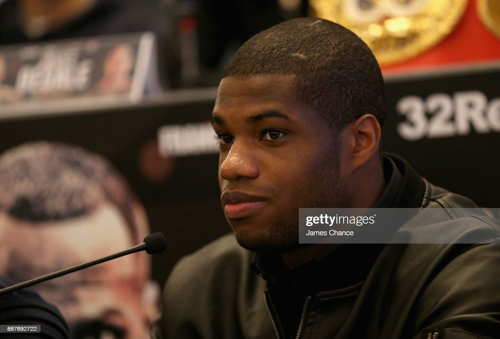 Daniel Dubois speaks to the media during a Boxing Press Conference at The Landmark London on December 7, 2017 in London, England.