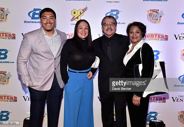 Daniel Duran Carla Duran cutman Jacob Stitch Duran and Charlotte Duran arrives at the eighth annual Fighters Only World Mixed Martial Arts Awards at...
