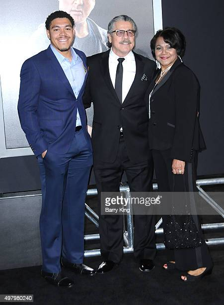 Daniel Duran Fighter Jacob Stitch Duran and wife Charlotte Duran attend the Premiere Of Warner Bros Pictures' 'Creed' at the Regency Village Theatre...
