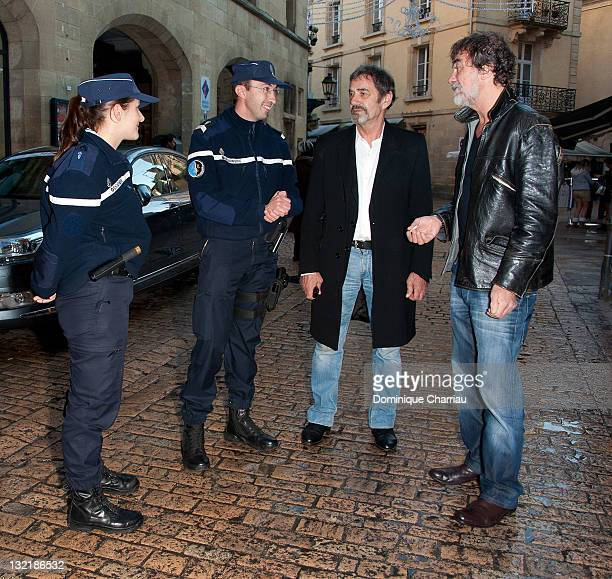 Daniel Duval and Olivier Marshal attend the the Sarlat Film Festival 2011 on November 10 2011 in SarlatlaCaneda France