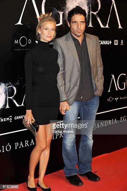Daniel Ecija and Vanessa Lorenzo attend Agora premiere at Kinepolis Cinema on October 6 2009 in Madrid Spain