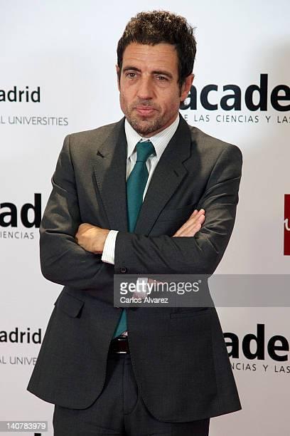 Daniel Ecija attends Tesoros Vivos de la Television tribute meeting at European University on March 6 2012 in Madrid Spain