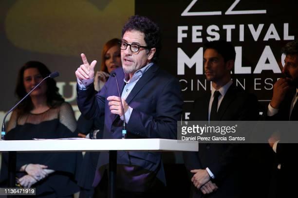 Daniel Ecija attends the 'Malaga' award 2019 during the 22th Malaga Film Festival at the Cervantes Theater on March 17 2019 in Malaga Spain