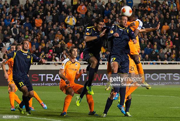 Daniel Einbinder of Maccabi Tel Aviv in action during the UEFA Europa League Group F match against APOEL FC on November 28 2013 in Nicosia Cyprus