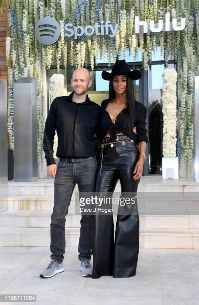 Daniel Ek and Ciara attend an intimate evening of music and culture by Spotify and Hulu during Cannes Lions 2019 at Villa Mirazur on June 17, 2019 in...