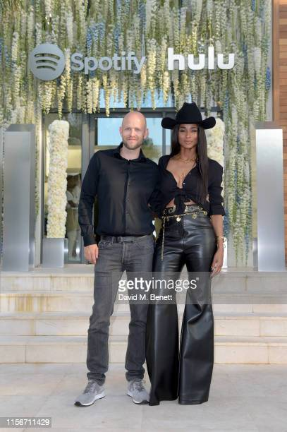 Daniel Ek and Ciara attend an intimate evening of music and culture hosted by Spotify and Hulu during Cannes Lions 2019 at Villa Mirazuron June 17,...