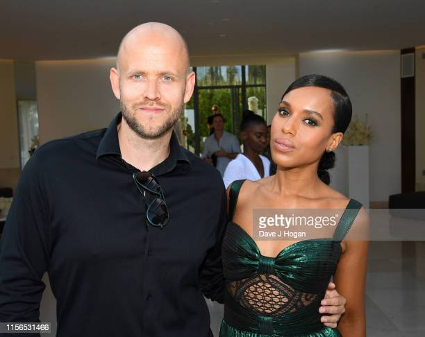 Daniel Ek and Kerry Washington attend an intimate evening of music and culture hosted by Spotify and Hulu during Cannes Lions 2019 at Villa Mirazur...