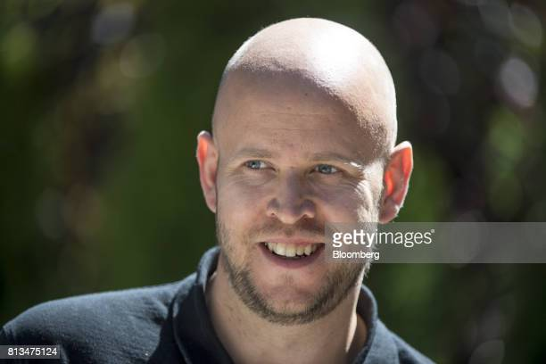 Daniel Ek chief executive officer and cofounder of Spotify Ltd walks the grounds after a morning session during the Allen Co Media and Technology...