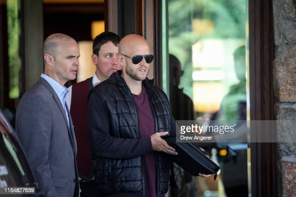 Daniel Ek, chief executive officer of Spotify, arrives at the annual Allen & Company Sun Valley Conference, July 9, 2019 in Sun Valley, Idaho. Every...