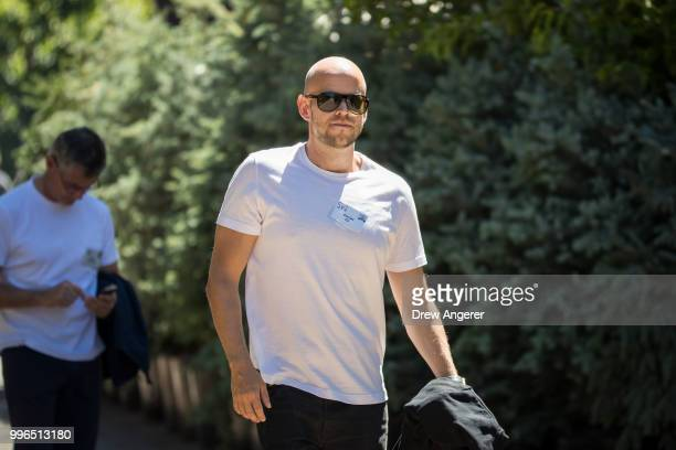 Daniel Ek cofounder and chief executive officer of Spotify attends the annual Allen Company Sun Valley Conference July 11 2018 in Sun Valley Idaho...