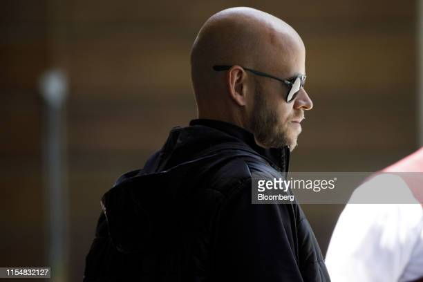 Daniel Ek, co-founder and chief executive officer of Spotify Technology SA, arrives ahead of the Allen & Co. Media and Technology Conference in Sun...